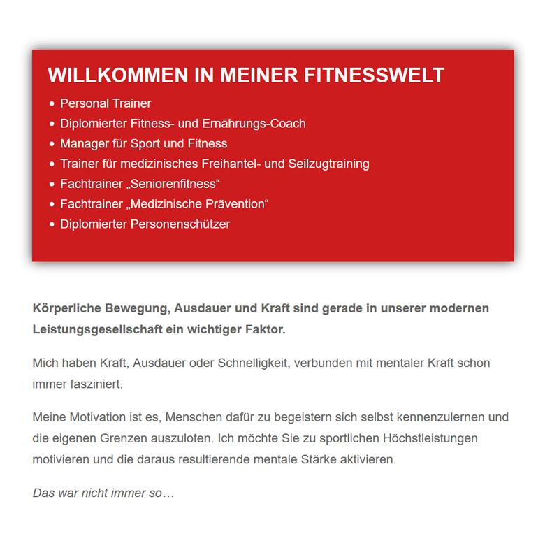 Fitnesswelt